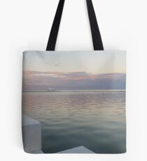 Merewether Sunset in Winter Tote Bag