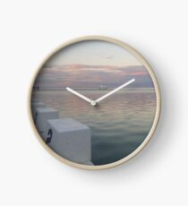Merewether Sunset in Winter Clock