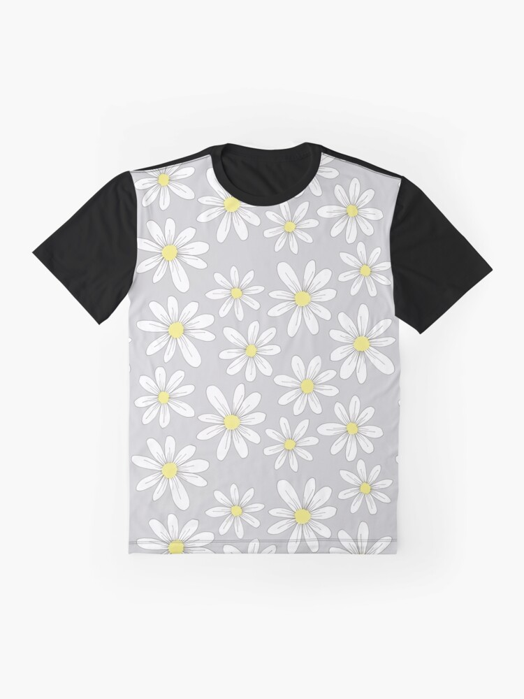 Alternate view of simple daisies on gray Graphic T-Shirt