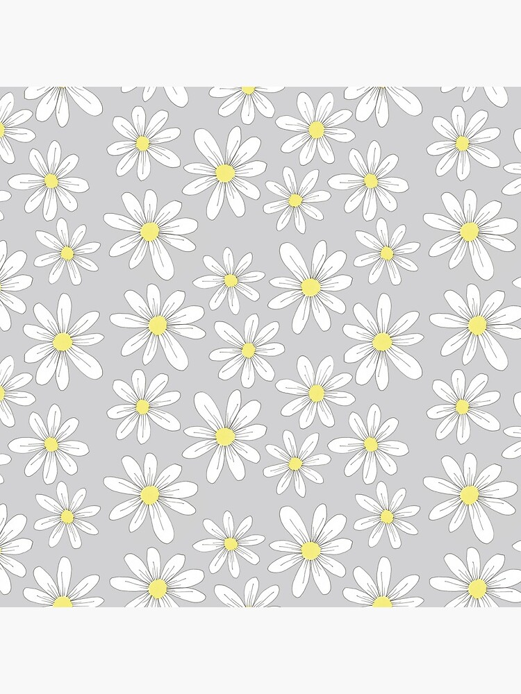 simple daisies on gray by swoldham