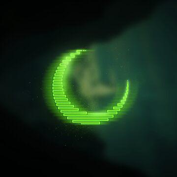Green neon - electro moon by m-ersan