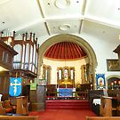 ST CHADS CHURCH  ALTAR by Lilian Marshall