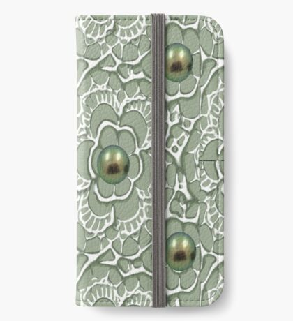 Mouse & Dragonfly /Lace & Pearls 1631 Views iPhone Wallet