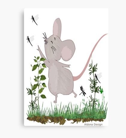 Mouse & Dragonfly /Lace & Pearls 1631 Views Canvas Print