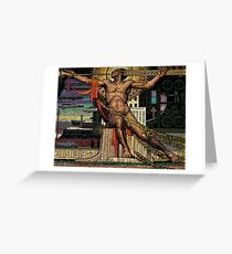 Waller's I'll put a girdle around the earth Greeting Card