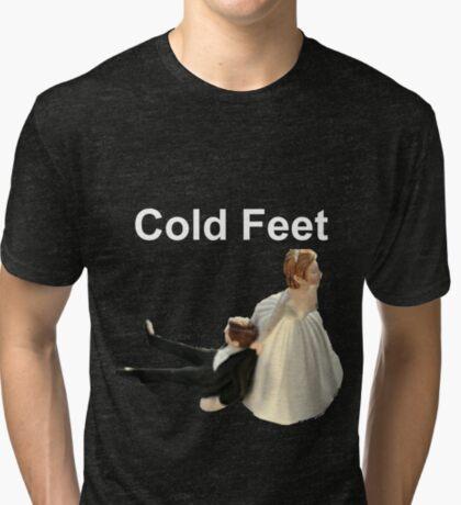 Cold Feet white Tri-blend T-Shirt
