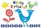 Bird buddies Birthday - card by Andi Bird