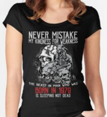 Happy Birthday Horror - Born In 1979 Women's Fitted Scoop T-Shirt