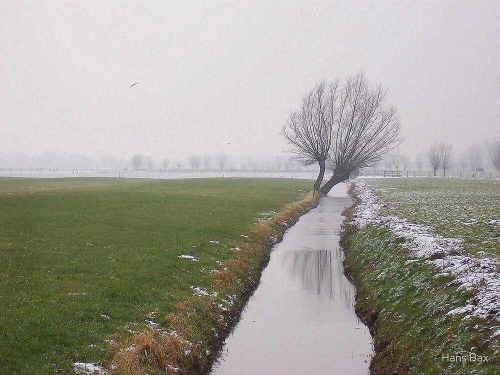 Winter in Langbroek by Hans Bax
