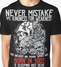 Happy Birthday Horror - Born In 1983 Graphic T-Shirt