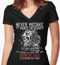 Happy Birthday Horror - Born In 1993 Women's Fitted V-Neck T-Shirt