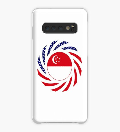 Singapore American Multinational Patriot Flag Series Case/Skin for Samsung Galaxy