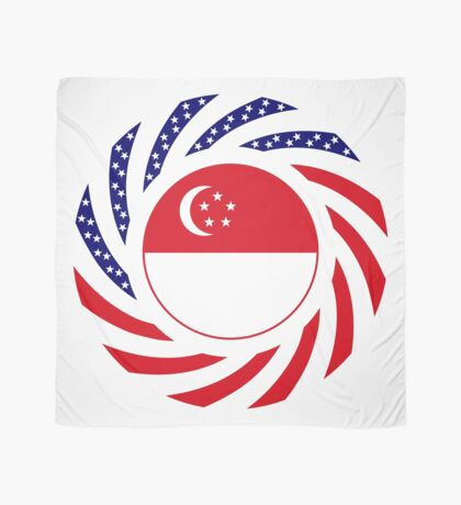 Singapore American Multinational Patriot Flag Series Scarf