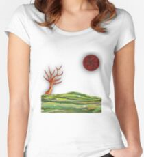 Wake To Greet The Morning IV Women's Fitted Scoop T-Shirt