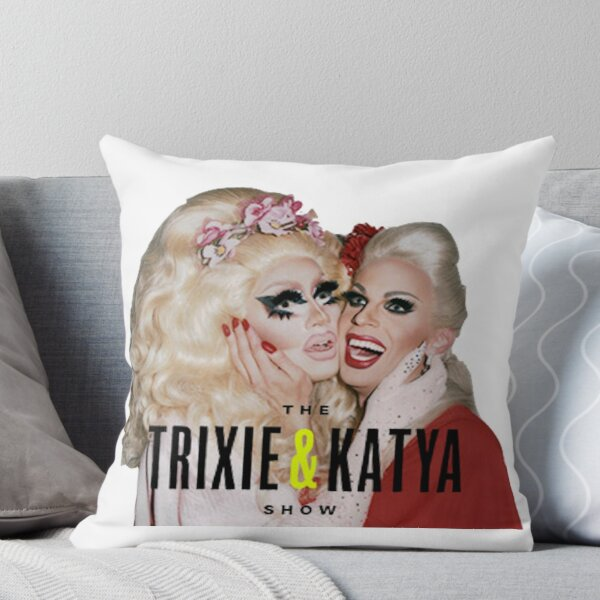 trixie and katya Throw Pillow