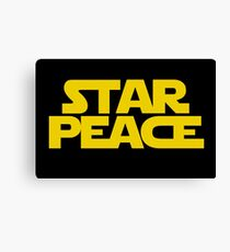 STAR PEACE (Yellow letters - Star Wars funny parody) Canvas Print
