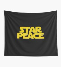 STAR PEACE (Yellow letters - Star Wars funny parody) Wall Tapestry