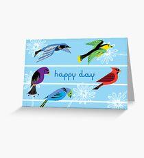 Five Royal Birds - Card Greeting Card