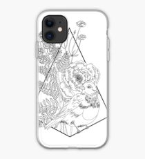 Bird, flowers and fern iPhone Case