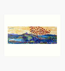 Moyhastin Panorama: from Clew Bay to the Sheeffry Hills - Mayo Art Print