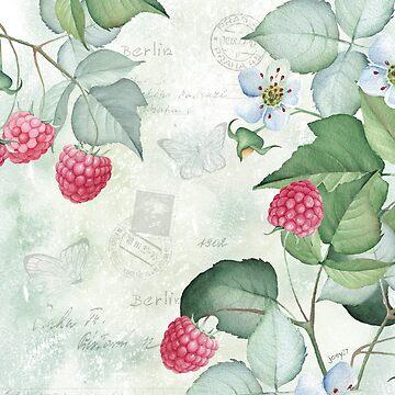 Watercolour Florals - Raspberries by Joey27