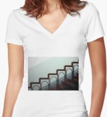 stairway Women's Fitted V-Neck T-Shirt