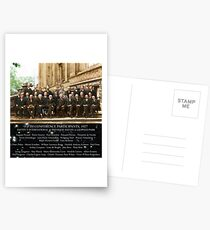 1927 Solvay Conference (spacetime bg), posters, prints Postcards