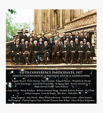 Lámina fotográfica 1927 Conferencia Solvay (espacio-tiempo bg), carteles, impresiones.