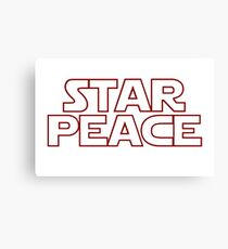 STAR PEACE (Red hollow letters - Star Wars funny parody) Canvas Print