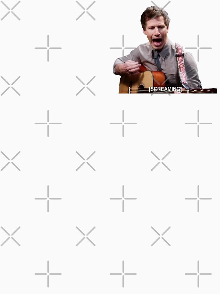 Jake Peralta gritando con la guitarra de ellalucy