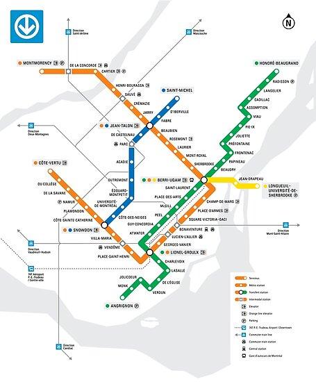 Subway Map Montreal.Stm Montreal Metro Subway Map Light White Background Carte Du Metro