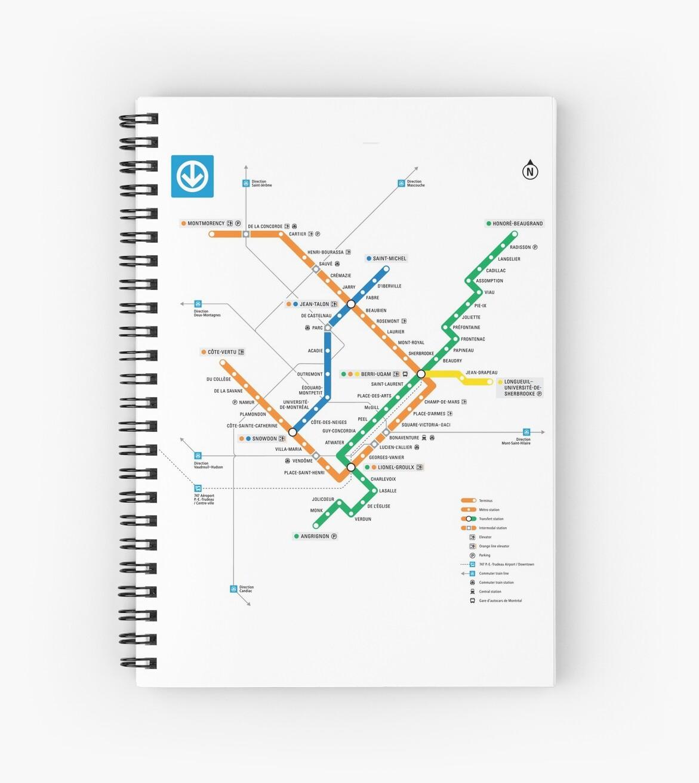 Stcum Metro Map.Stm Montreal Metro Subway Map Light White Background Carte Du Metro