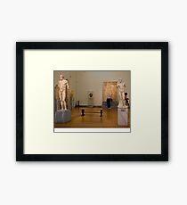 Statuary Bench Framed Print