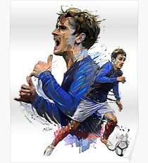 Antoine Griezmann Football Player Poster