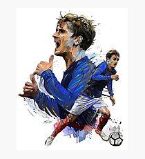 Lámina fotográfica Jugador de fútbol de Antoine Griezmann