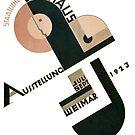 Bauhaus Logo on 1923 Weimar Advertisement by edsimoneit
