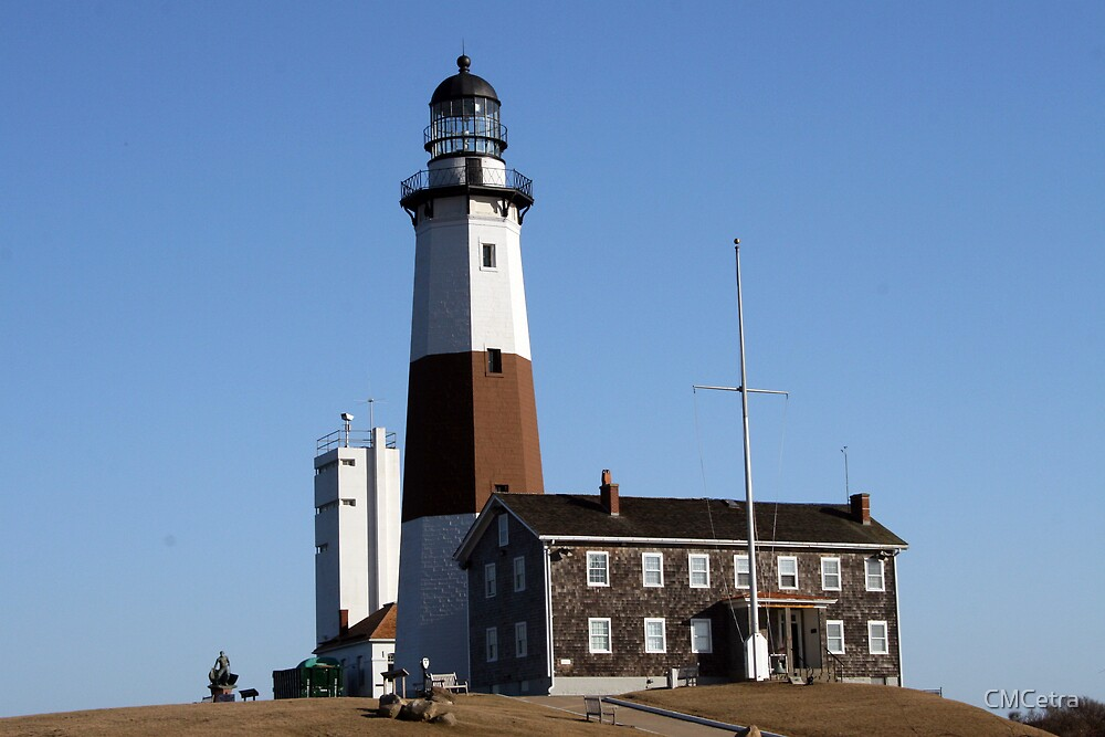 Montauk Lighthouse in Winter by CMCetra