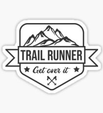 Trail runner badge Sticker