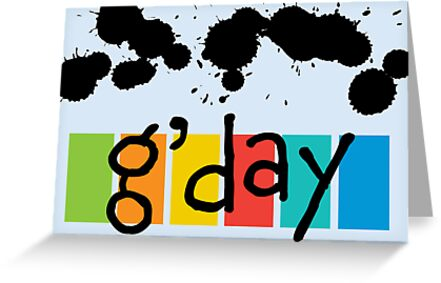 G' day - card by Andi Bird