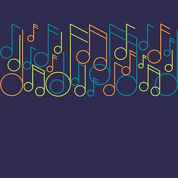 Musical Colorful Music Notes by TLC2Designs