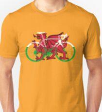 Bike Flag Wales (Big) v2 Unisex T-Shirt