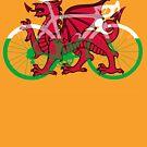 Bike Flag Wales (Big) v2 by sher00
