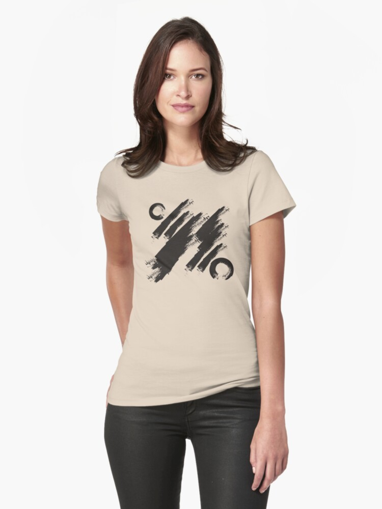 abstract brushstroke  Womens T-Shirt Front