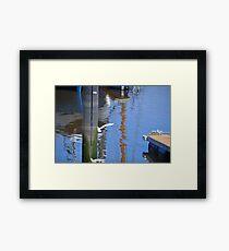 Egret Fishing Blooper.......... Framed Print