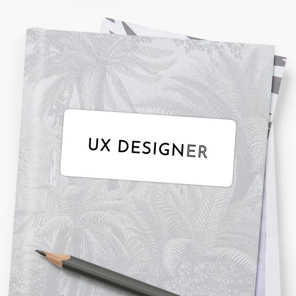 UX Designer (Inverted) Sticker