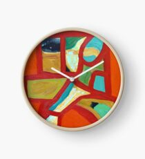 Abstract painting Clock