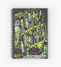 Welcome To Santa Carla Retro Sunrise Yellow Spiral Notebook