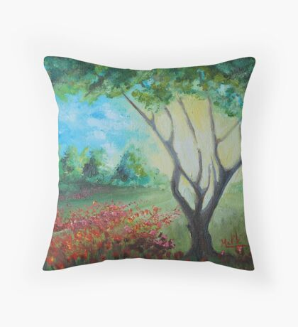 Tree in front  Throw Pillow