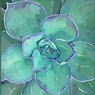 Moody Blues Succulent Series by Hxlxynxchxle- Style 2 by PurposelyDesign