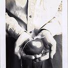 apple string hands by Stephen Sheffield